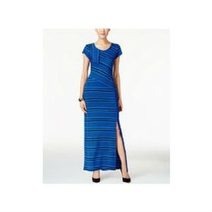 NY Collection Maxi Dress Striped Jersey